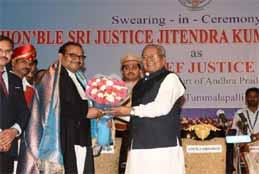 Justice Maheshwari Sworn As Chief Justice In Amaravati