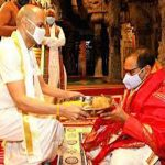 AP HC CJ Offered Prayers At Tirumala